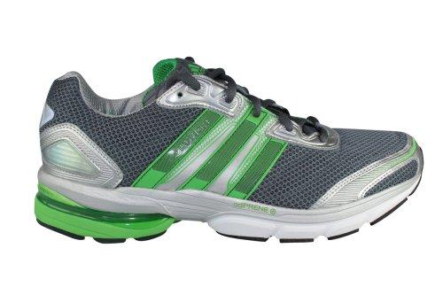 Adidas AdiStar Solution M Herren Laufschuhe Running Jogging Schuhe Joggen Laufen Training Marathon Joggingschuhe Runningschuhe Sneakers Turnschuhe Sport Männer AS Grau Silber Grün Größe 42 UK 8