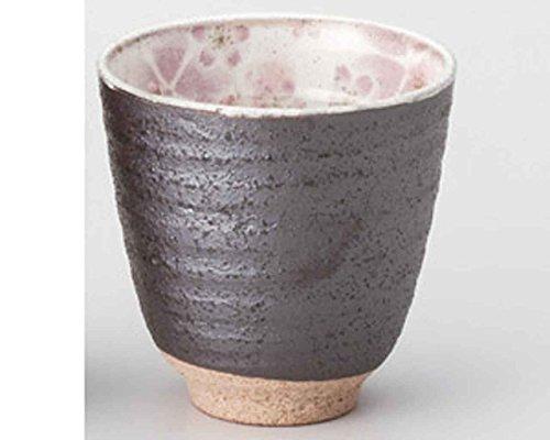 Kobiki Sakura Pink 3.3inch Set of 5 Japanese Tea Cups Grey Ceramic Made in Japan by Watou.asia