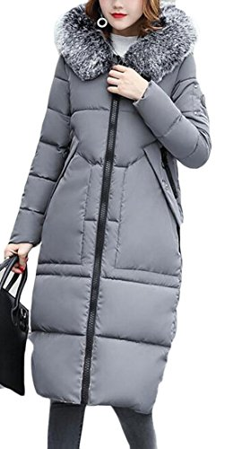 Coat amp;W M amp;S Parka Padded Warm Women's Light Hood Down Grey Thick Long Winter 5ZPrZqBxw
