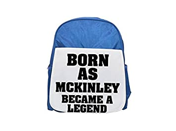 Nacido como MCKINLEY, se convirtió en una mochila azul de leyenda impresa para niños, mochilas lindas, ...