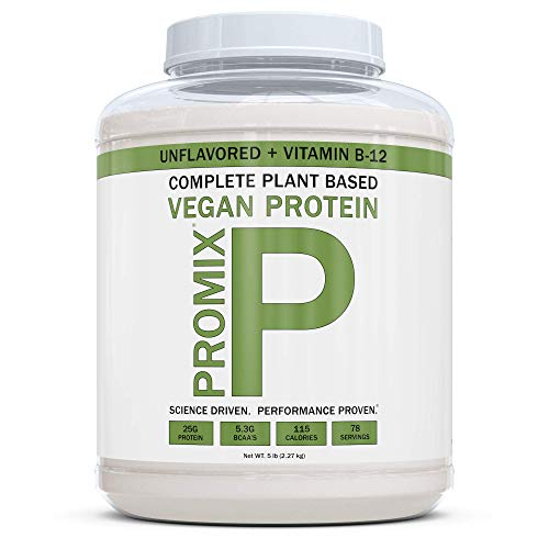 Price comparison product image PROMIX Premium Vegan Protein + B12,  Organic Complete Protein Plant Based Blend,  Gluten-Free,  Soy Free,  5lb Bulk