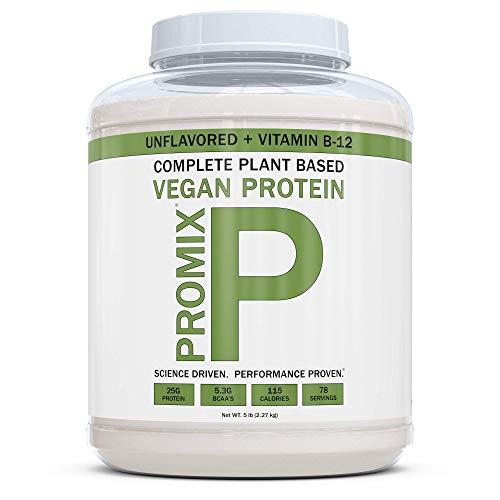 PROMIX Vegan Protein Powder | Dairy Free, Non GMO, Gluten Free (Vegan + B12, 5 Pound)