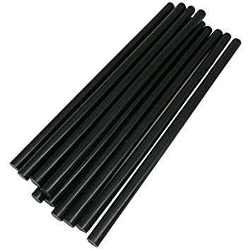 TrendBox Pack of 20 Black 7mmx200mm - Hot Melt Glue Sticks Strips Melting Adhesive For Handmade Craft DIY Home Office Project Craftwork Fix & Repairs 4336846195