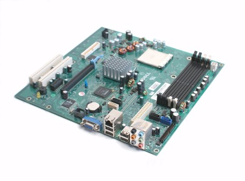 Genuine Dell HK980 CT103 UW457 For Dell Dimension E521 Desktop (DT) System AMD Athlon Nvidia GeForce 6150LE DDR2 SDRAM Motherboard Mainboard Logic Board Compatible Dell Part Numbers: YY838, DR830, HK980, CT103, UW457 by Dell