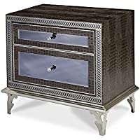 Michael Amini Hollywood Swank Upholstered Nightstand, Amazing Gator