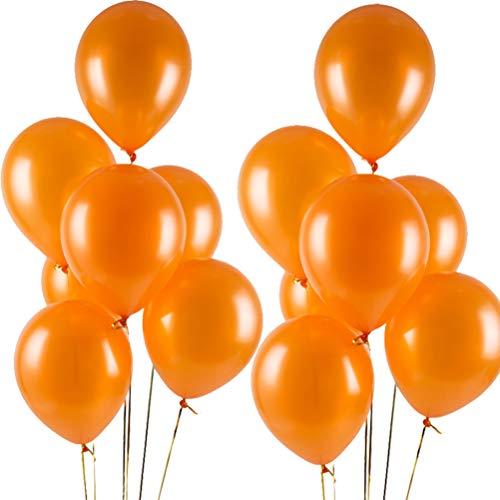 MOWO Orange Latex Balloon,Premium Pearl Party Balloon,12 inch,3.2g (Orange,100 Pack)