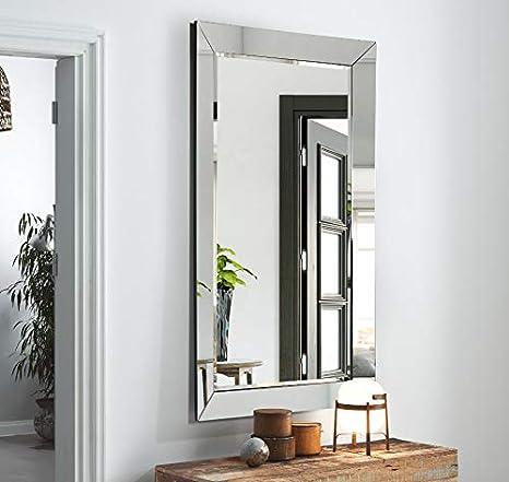 DISARTE - Espejos Modernos Cristal - Espejo Palermo Rectangular (150x90): Amazon.es: Hogar