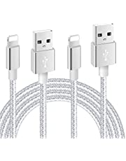 Nylon Braided USB Charger Cable IGUGIG 2.4A Fast Charger Cable Compatible with for iPhone X XR XS MAX 8 Plus 7 6s 5s 5c Air iPad Mini iPod (1M+2M 2PACK)