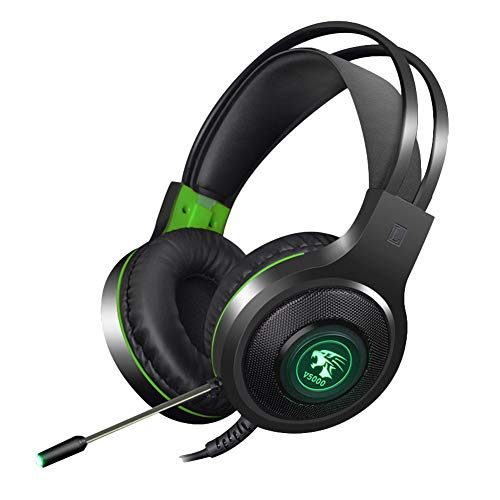 Wireless Bluetooth Earphone,Wulidasheng V5000 7.1CH LED 3.5mm/USB Wired PC Laptop Gaming Headphone Headset with Mic - 3.5mm