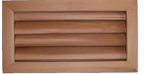 Pack of 10 -16'' x 8'' Cedar wood foundation vent for crawel space ventilation