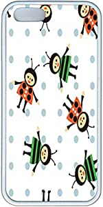 Bees Pattern Iphone 5 Cases, Iphone 5s Case- White Sides