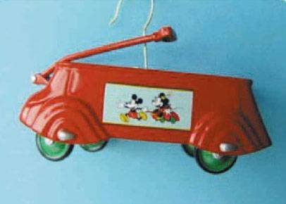 1937 Mickey Mouse Streamline Express Coaster Wagon Sidewalk Cruisers 6th in Series 2002 Easter Hallmark Ornament QEO8516