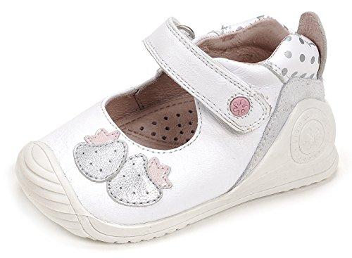 Biomecanics 172136, Bailarinas para Bebés Varios colores (Blanco /     Estampado Puntos )