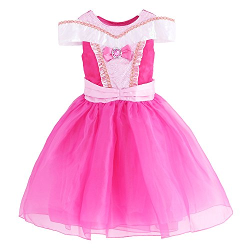 [JiaDuo New Baby Girls' Princess Costume Party Cosplay Dress 8] (Toddler And Girls Aurora Princess Costumes)