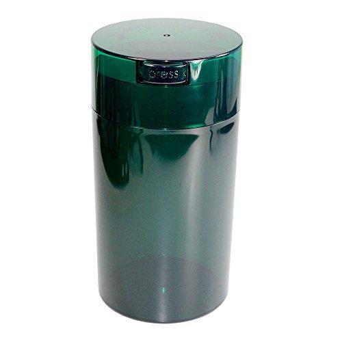Tightpac America, Inc. Tightvac - 3 to 12 Oz Vacuum Sealed Storage Container, 1.3-Liter/1.1-Quart, Green Tint