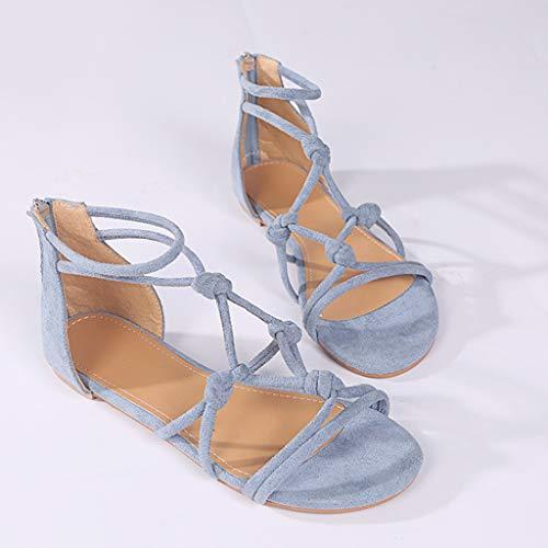 Bleu Plateforme Femme Art Clair Compensees Fille sandales Plates Argentées Ohq Clous Sandales Été À Talons Femmes Bxf66qF7