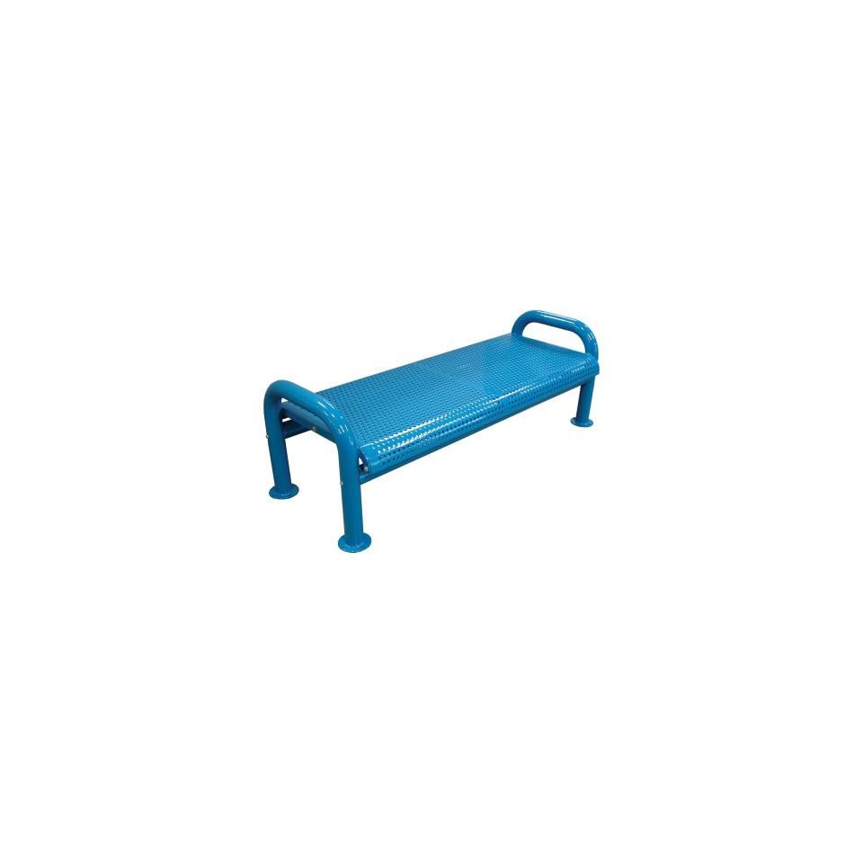 Leisure Craft U Leg Perforated Commercial Grade Bench