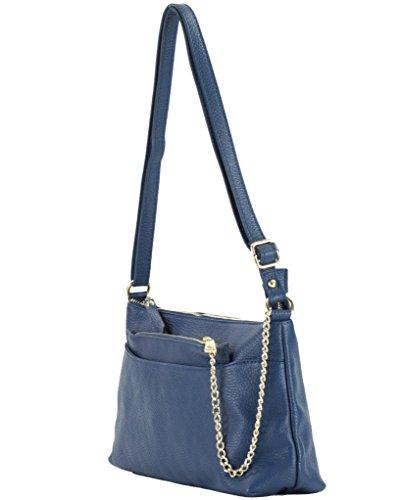 Histoiredaccessoires - Bag With Leather Shoulder Bag Woman - Sa150833gf-alberto Blue