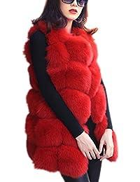 Amazon Com Reds Fur Amp Faux Fur Coats Jackets Amp Vests