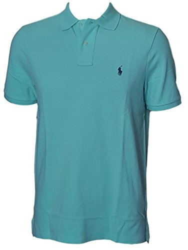 Polo Ralph Lauren Classic Fit Mesh Pony Logo Polo Shirt (S, LightGreen) - Mesh Short Sleeve Polo Shirt