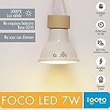 iGOTO F20307 Foco LED GU10, 7 Watts, Luz Cálida