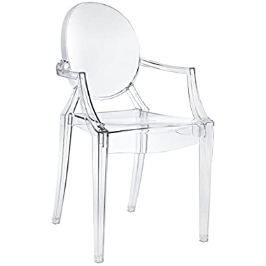 Modway Casper Dining Armchair in Clear
