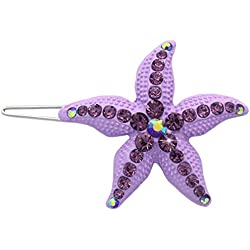 cocojewelry Starfish Flower Girl Bridesmaid HairPin Accessory Wedding Jewelry (Lavender)