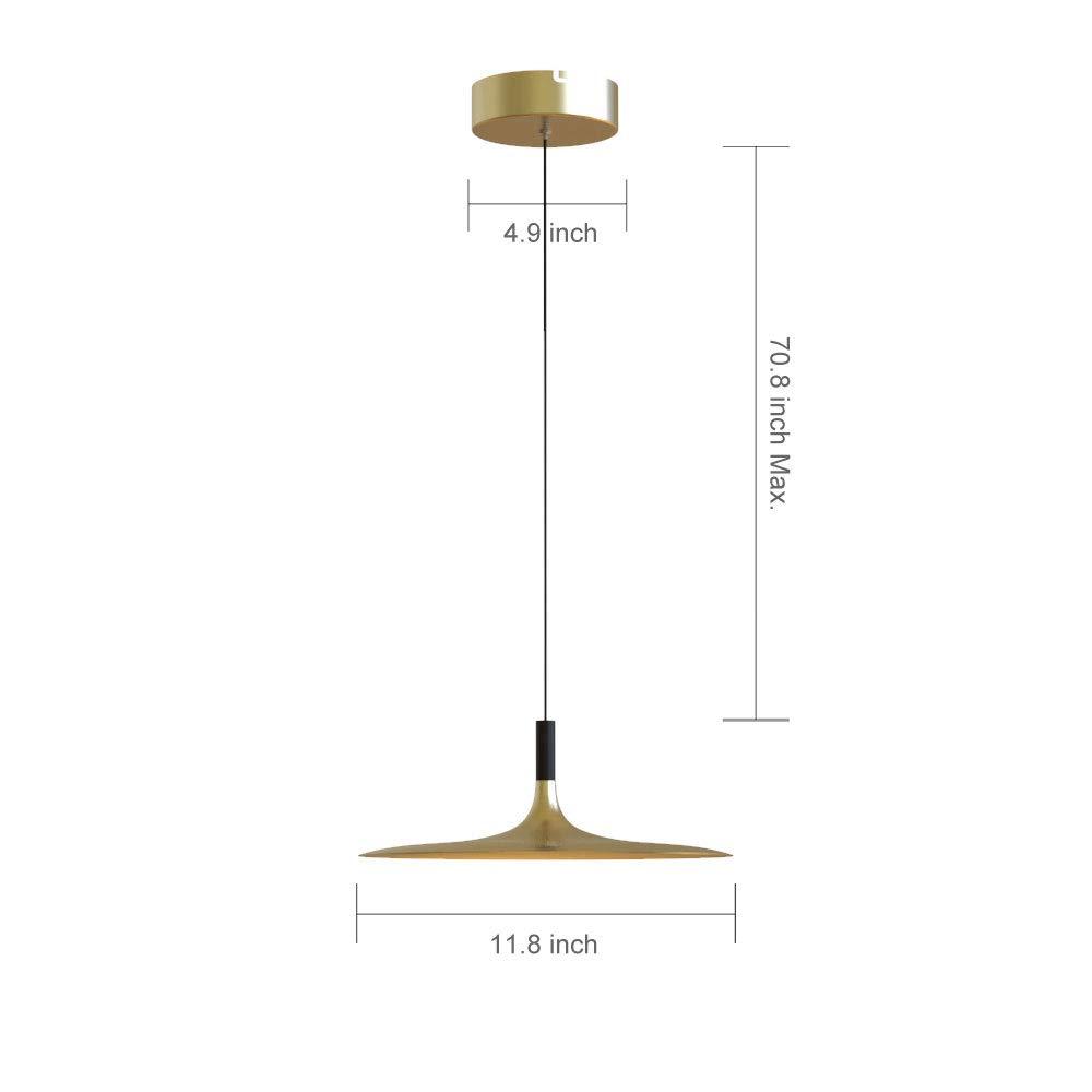Amazon.com: Lenggo, lámpara colgante LED de intensidad ...