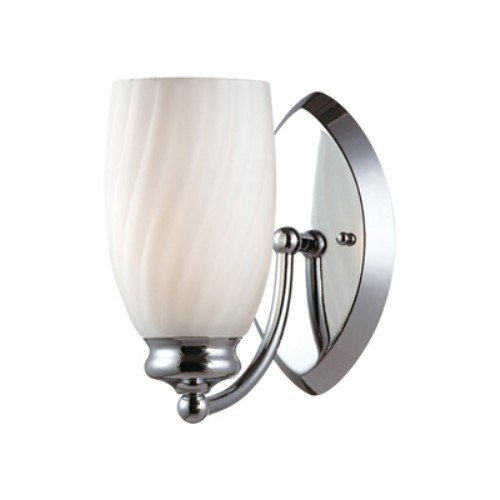 Designers Fountain 6701-CH Belize One Light Wall Sconce, Chrome Finish with Frosted White Glass ()