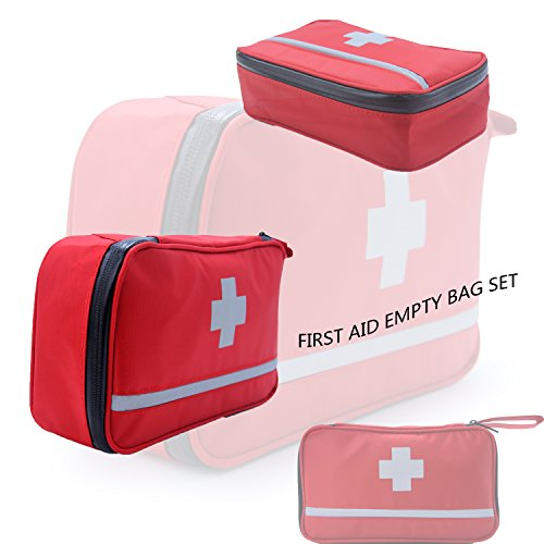SHPMAS First Aid Kit Bag Reflective Emergency Empty Bag Emergency Equipment Kits Gift Choice for Family,Home, Outdoors,Hiking&Camping,Car, Workplace, (Medic First Aid)