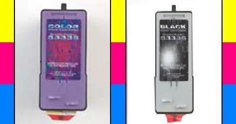 Primera 53335/53336 (Black+Color) OEM Genuine Inkjet/Ink Cartridges Combo (One each: 53335, 53336) 2 Pack - Retail