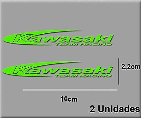 Ecoshirt TR-WU43-0J4O Pegatinas Stickers Moto Kawa Team R R14 Aufkleber Decals Autocollants Adesivi, Verde