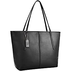 Tote Handbags,Coofit Fashion Purses and Handbags for Women PU Leather Purse Tote Bag Black