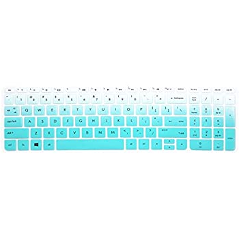 """Keyboard Cover Skins for 15.6"""" HP Pavilion 15-ab 15-ac 15-ae 15-af 15-an 15-ak 15-as 15-au 15-ay 15-ba 15-bc 15-bk Series, HP Envy x360 m6-ae151dx m6-p113dx m6-w, HP OMEN 15-ax (Ombre Mint blue)"""