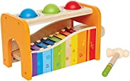 Hape Pound & Tap Bench with Slide Out Xylop