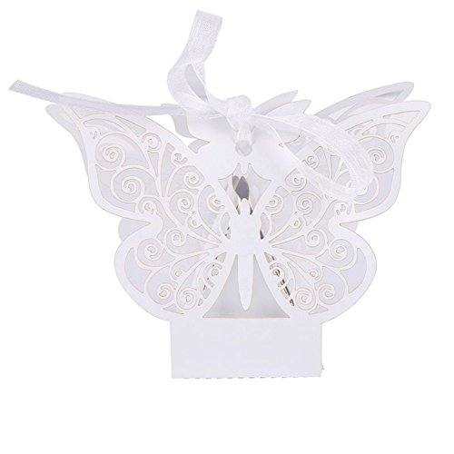 - Smartcoco 10Pcs Hollow Butterfly Design Wedding Favors Candy Chocolate Gift Box Party Supplies Marriage Decoration