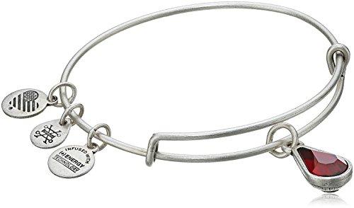Alex and Ani January Birth Month Charm with Swarovski Crystal Rafaelian Silver Bangle Bracelet