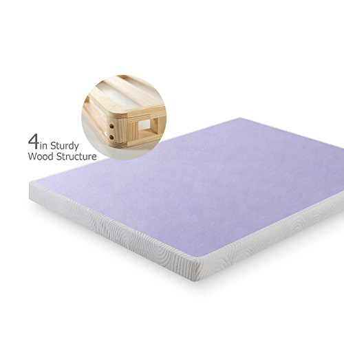 Zinus 4 Inch Low Profile Wood Box Spring/Mattress Foundation
