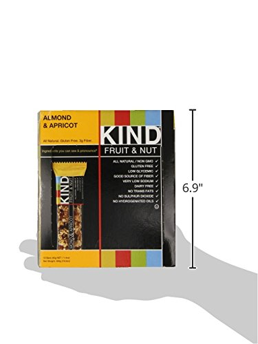 KIND Bars, Almond & Apricot, Gluten Free, Low Sugar, 1.4oz, 12 Count by KIND (Image #7)