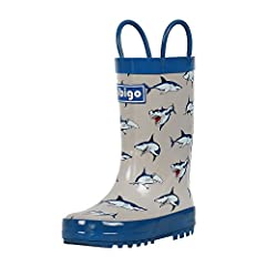 ♥High Quality Material Brings Your Children A Cozy Wear Experience - Hibigo selects well rebound natural rubber for flexible upper, plus soft cotton lining to produce comfortable rainboots for your kids. We are devoted to eliminating stiff an...