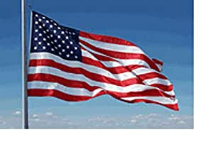 8x12 FT Commercial 2-PLY Poly US American Flag Embroidered Stars Sewn Stripes
