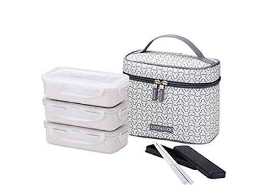 LockLock Clover Combo Lunch Box Ivory