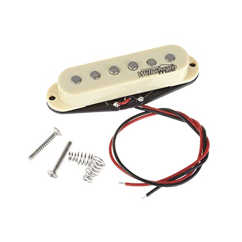 Wilkinson LOW GAUSS Vintage Tone Ceramic Single Coil Pickup for Strat Style Guitar Middle, Ivory (Middle Pickup)