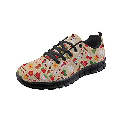 Running Christmas Air Merry Coloranimal Lace up Sneakers Men Flats Walking Mesh Lightweight for Women 8 HwH1qUE