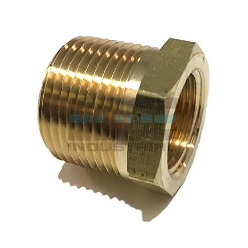 EDGE INDUSTRIAL Brass REDUCING HEX Bushing 1