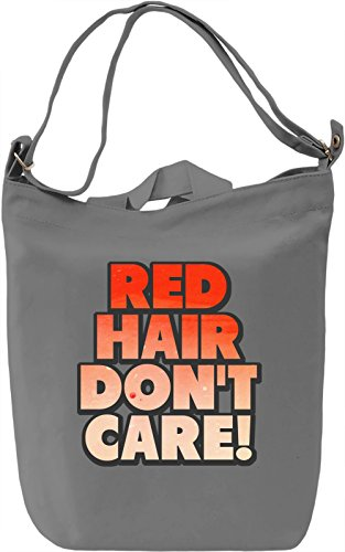 Red Hair Don't Care Borsa Giornaliera Canvas Canvas Day Bag| 100% Premium Cotton Canvas| DTG Printing|