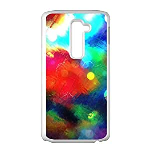Colorful water painting neon light fashion phone case for LG G2