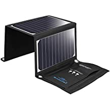 BlitzWolf 20W/3A Solar Charger Portable Dual USB Port SunPower Battery Charger All Cellphone iPhone X 8 7 6 6s Plus, Samsung Galaxy S8 S7 S6 Note 4 5, Sony Xperia (Over 21% SunPower Conversion)