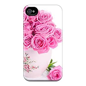 Pink Roses Bouquet Flip Cases With Fashion Design Iphone 5/5S