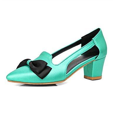 Le donne sexy elegante sandali donna tacchi Primavera Estate Autunno Inverno scarpe Club Comfort Ufficio di velluto & Carriera Party & abito da sera Chunky Heel BowknotBlack giallo , verde , us5 / EU3
